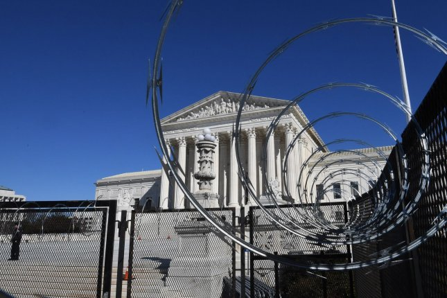 The Supreme Court Monday tossed out a case challenging a lower court's decision to extend Pennsylvania's mail-in ballot deadline for the November presidential election by three days. File Photo by Pat Benic/UPI