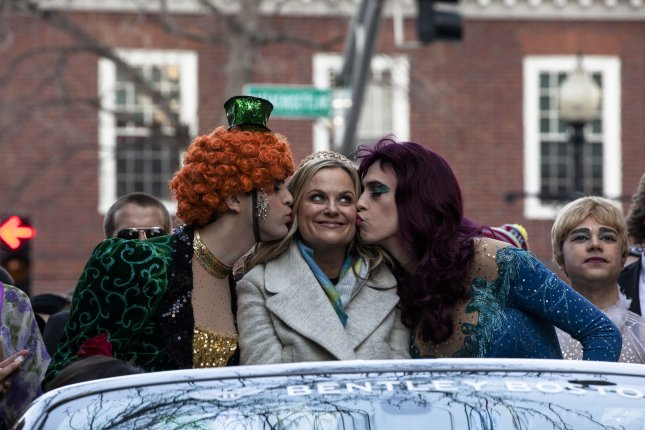 Hasty Pudding Theatricals 2015 Woman of the Year actress Amy Poehler during a parade for the award at Harvard University in Cambridge, Massachusetts on January 29, 2015. Photo by Alyssa Stone/UPI