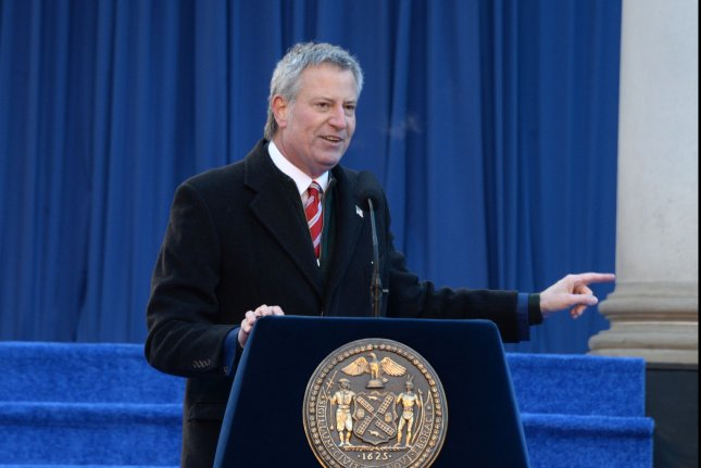 New York Mayor Bill de Blasio said New York City should prepare for marijuana legalization, even though he doesn't officially support legalizing the drug. File Photo by Dennis Van Tine/UPI