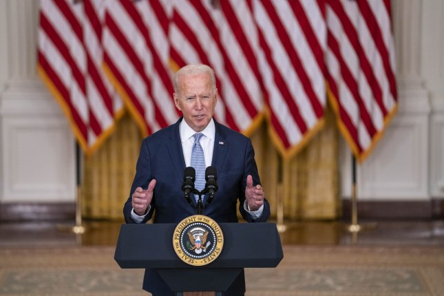 President Joe Biden has sought to emphasize that he inherited the Afghanistan withdrawal agreement from former President Donald Trump, but it was Biden's decision to stick with it. Photo by Sarah Silbiger/UPI
