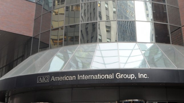 Exterior of the the New York corporate office building of American International Group Inc. (UPI Photo/Ezio Petersen)