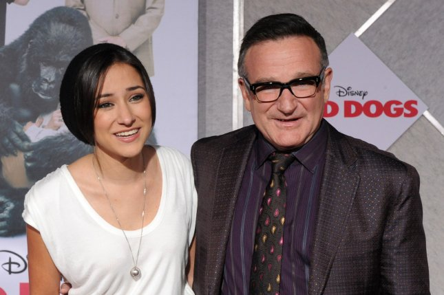 Actor Robin Williams attends the premiere of his new motion picture comedy Old Dogs with his daughter Zelda Williams at the El Capitan Theatre in Los Angeles on Nov. 9, 2009. Photo by Jim Ruymen/UPI