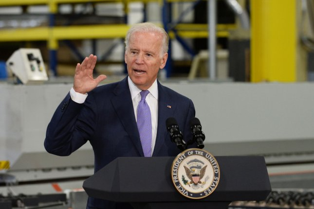 U.S. Vice President Joe Biden is said to be seriously considering a run for the White House next year -- a move that would quickly place him among the frontrunners for the Democratic nomination. Photo by Jim Ruymen/UPI