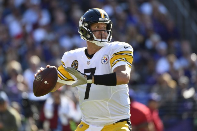 Pittsburgh Steelers quarterback Ben Roethlisberger throws downfield against the Baltimore Ravens during the second half of an NFL game at M&T Bank Stadium in Baltimore, Maryland, October 1, 2017. File photo by David Tulis/UPI