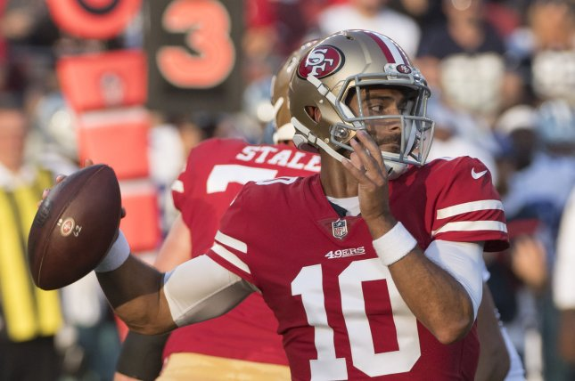 9c234b8d64f San Francisco 49ers' Jimmy Garoppolo talks fame as others sing his praises
