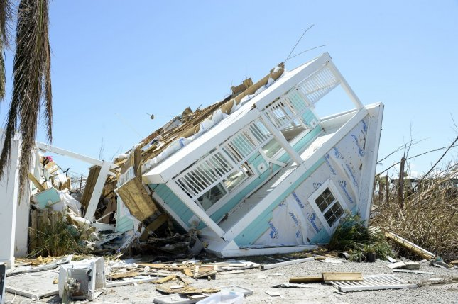 Damage to homes and property from Hurricane Dorian is seen at Treasure Cay in the Bahamas on September 9. Photo by Joe Marino/UPI