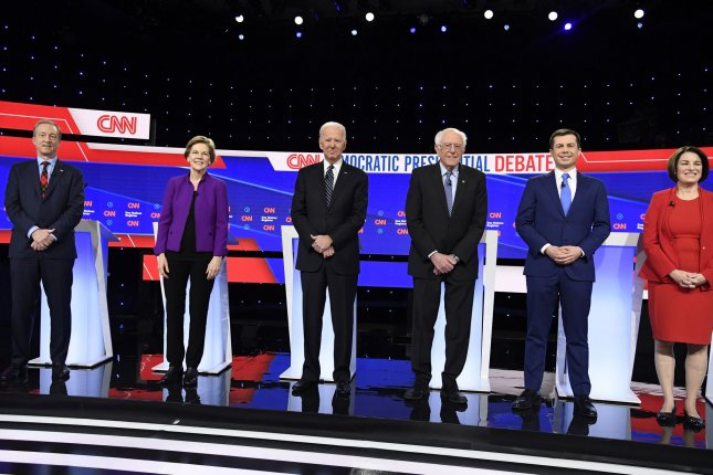 Every Democrat running for president has proposed raising government revenue by increasing taxes on the rich in one way or another, whether through higher income tax rates, a wealth tax or changing how investment income is treated. Photo by Mike Theiler/UPI