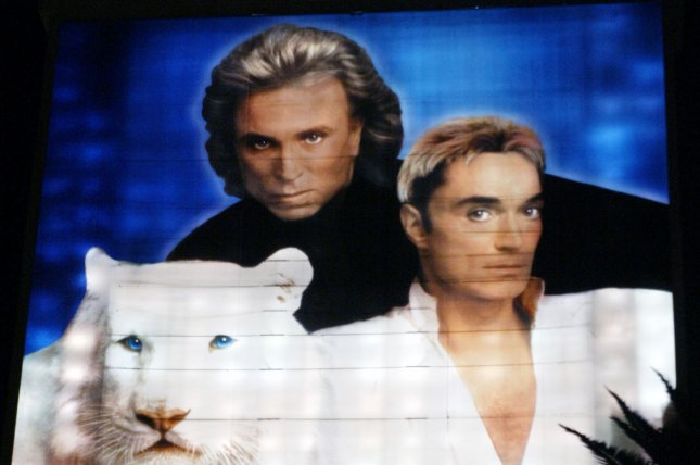 Roy Horn, (R) of the famous Siegfried & Roy magic duo died Friday from coronavirus. File Photo by Roger Williams/UPI