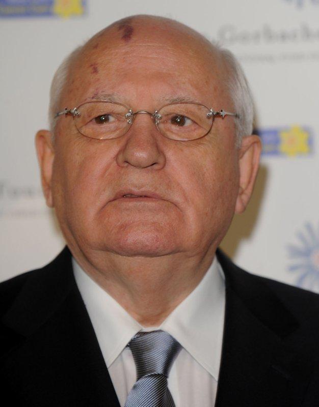 Former Russian President Mikhail Gorbachev (UPI Photo/Rune Hellestad)