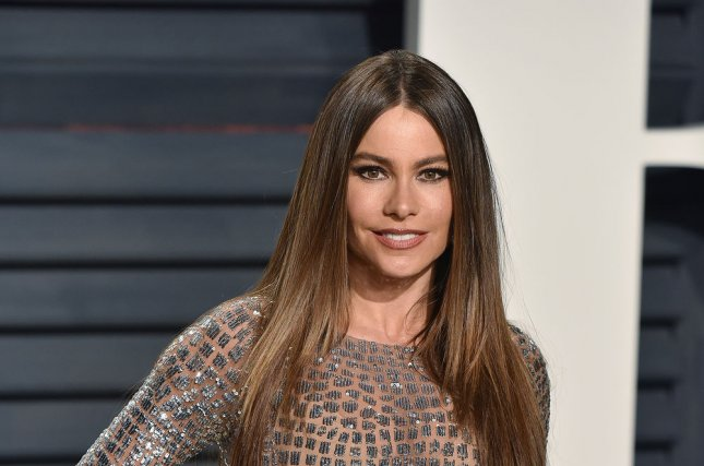 Sofia Vergara attends the Vanity Fair Oscar Party at the Wallis Annenberg Center for the Performing Arts in Beverly Hills, Calif., on February 26. The Modern Family actress turns 45 on July 10. File Photo by Christine Chew/UPI