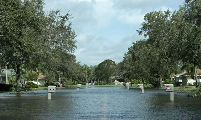 Flooding from Hurricane Irma is seen in Viera, Fla., on Monday. Photo by Joe Marino/UPI