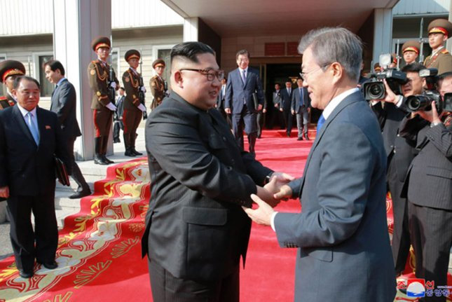 Feelings of hostility toward North Korea are on the decline in the South, a local poll showed on Wednesday. File Photo by KCNA/UPI