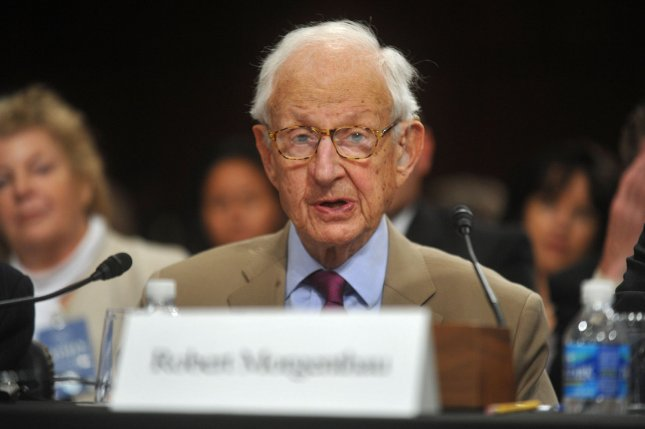 Robert M. Morgenthau, former district attorney for New York County, died Sunday at the Lenox Hill Hospital after a short battle with an illness. Photo by Kevin Dietsch/UPI Robert Morgenthau died Sunday at the L. (UPI Photo/Kevin Dietsch)