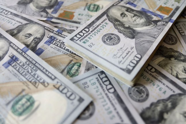 A weakened U.S. dollar could mean rising prices for food, gasoline and other staples at a time when U.S. consumers are facing record-high unemployment due to the fallout from the pandemic.File Photo by John Angelillo/UPI
