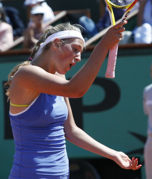 Victoria Azarenka, shown in a 2009 file photo, was a first-round winner Wednesday at a WTA tournament in Spain. (UPI Photo/ David Silpa)