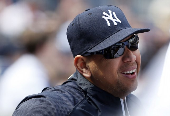 New York Yankees third baseman Alex Rodriguez at Yankee Stadium in New York, April 1, 2013. UPI/John Angelillo