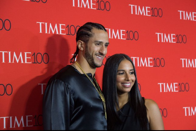 Colin Kaepernick and Nessa arrive on the red carpet at the TIME 100 Gala at Frederick P. Rose Hall, Home of Jazz at Lincoln Center, on April 26 in New York City. File photo by Bryan R. Smith/UPI