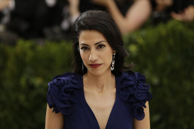 The State Department redacted some of Huma Abedin's emails that contained classified information. File Photo by John Angelillo/UPI