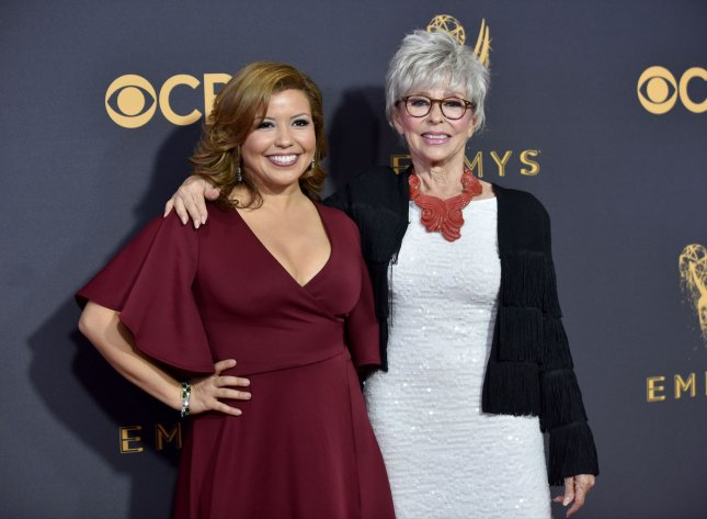 Actresses Justina Machado and Rita Moreno are returning for a fourth season of the sitcom, One Day at a Time. File Photo by Christine Chew/UPI