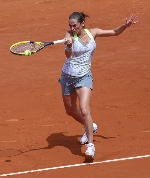 Roberta Vinci, shown during this year's French Open, advanced to the second round of the WTA tourament in Italy with a win Tuesday. UPI/David Silpa