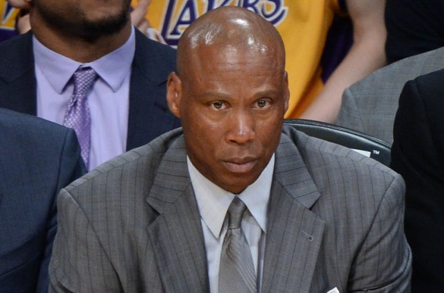 After two seasons, Byron Scott's bumpy ride as Lakers head coach has come to an end. Scott was fired by the Lakers on Sunday night, the team announced in Los Angeles on April 24, 2016. File photo by Jim Ruymen/UPI