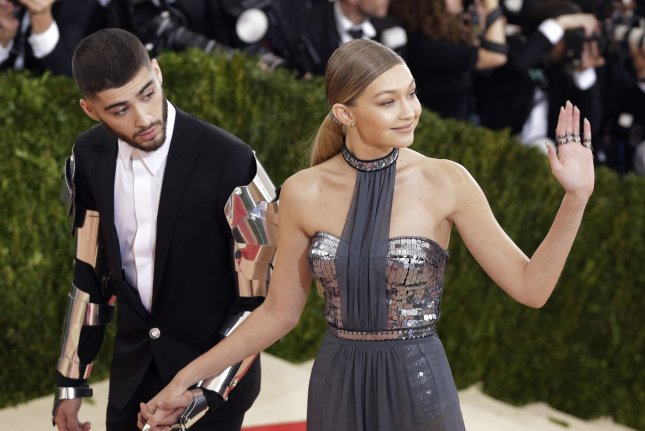 f40a3e12939 Gigi Hadid and Zayn Malik arrive on the red carpet at the Costume Institute  Benefit at The Metropolitan Museum of Art celebrating the opening of Manus  x ...