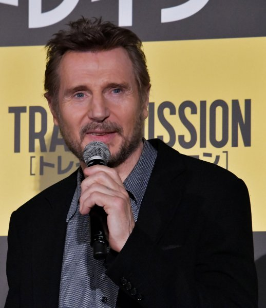 Liam Neeson may potentially star alongside Chris Hemsworth and Tessa Thompson in a Men in Black spinoff. File Photo by Keizo Mori/UPI