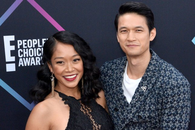 Harry Shum Jr. (R) and his wife Shelby Rabara. Shum will be the ambassador of the 2019 SAG Awards. File Photo by Jim Ruymen/UPI