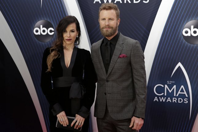 Dierks Bentley (R) with his wife Cassidy Black. Bentley will be performing onstage during the 2019 NFL draft. File Photo by John Angelillo/UPI