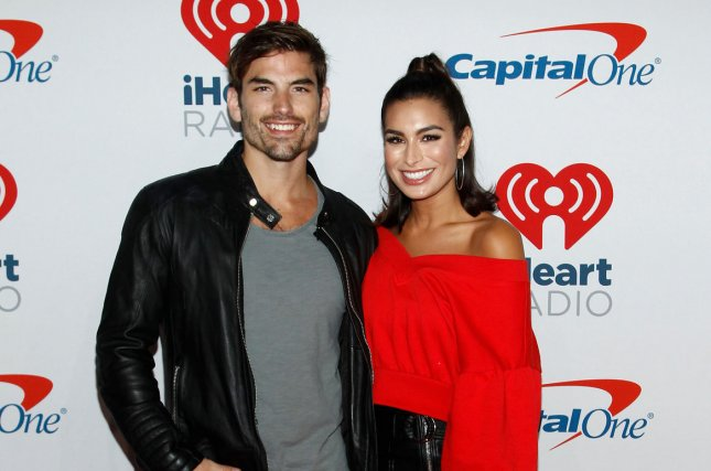 Jared Haibon and Ashley Iaconetti tied the knot Sunday in Rhode Island. File Photo by James Atoa/UPI