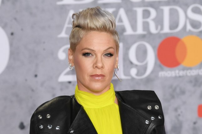 Pink will be honored for her achievements in touring and live performance at the Billboard Live Music Summit and Awards in November. File Photo by Rune Hellestad/ UPI