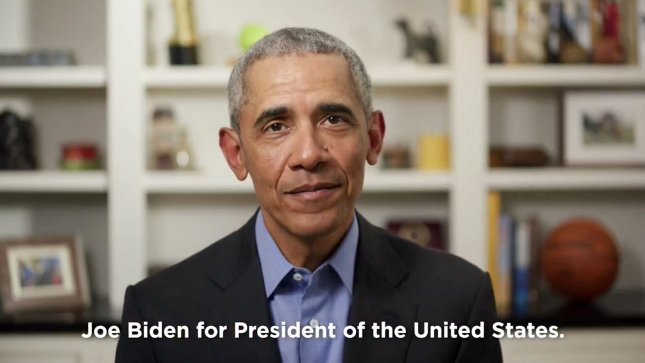 Former President Barack Obama, who endorsed the presumptive Democratic presidential nominee Joe Biden in April, will hold his first fundraiser for Biden's campaign online Tuesday night. File Photo by UPI