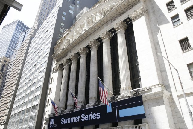 The New York Stock Exchange is seen on Wall Street in New York City on June 21. The Labor Department on Friday will announce how many jobs were added to the U.S. economy in June. Photo by John Angelillo/UPI