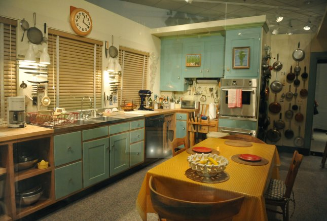 Cooking with a gas stove with no hood can expose many to air pollution. The actual kitchen of Julia Child's Cambridge, Massachusetts home, including the cabinets, appliances, cookbooks, kitchen table, and hundreds of utensils and gadgets. UPI/Kevin Dietsch
