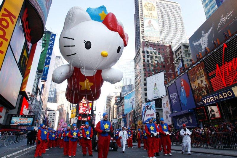 Hello Kitty. (UPI Photo/John Angelillo)