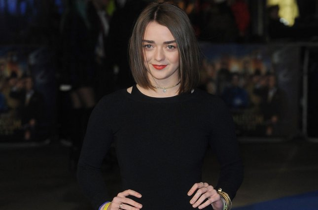 English actress Maisie Williams is slate to make a guest appearance in the current season of Doctor Who. Photo by Paul Treadway/UPI