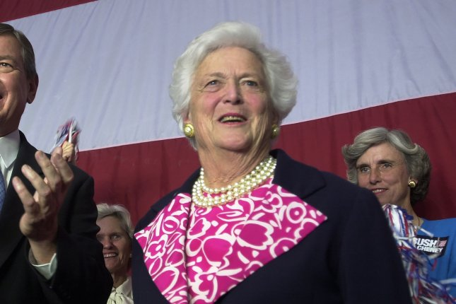 Former first lady Barbara Bush, shown here in 2000, is remembered for her wit, grace and dedication to family. File Photo by Bill Greenblatt/UPI