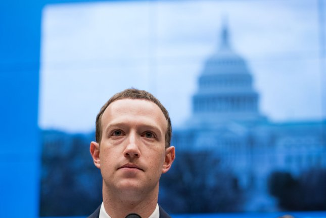 Facebook CEO Mark Zuckerberg testifies in the Senate on April 11. Monday, a collection of left-wing groups launched a movement called Freedom From Facebook, that calls for the U.S. government to break up the social media giant. File photo by Erin Schaff/UPI