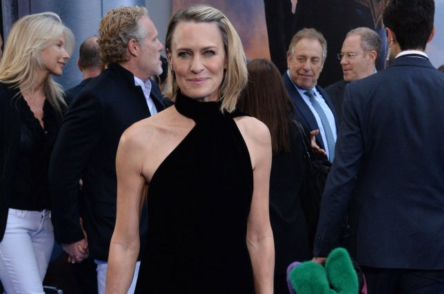 Robin Wright discusses her working relationship with Kevin Spacey in a new interview. File Photo by Jim Ruymen/UPI