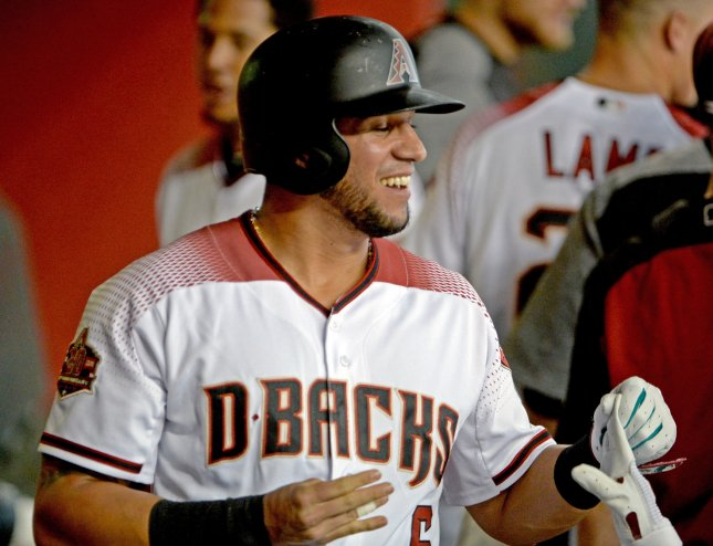 David Peralta and the Arizona Diamondbacks take on the Cincinnati Reds on Saturday. Photo by Art Foxall/UPI