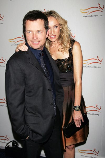 Michael J. Fox and wife Tracy Pollan arrive for the Michael J. Fox Foundation Gala at the Sheraton Hotel in New York on November 5, 2008. (UPI Photo/Laura Cavanaugh)