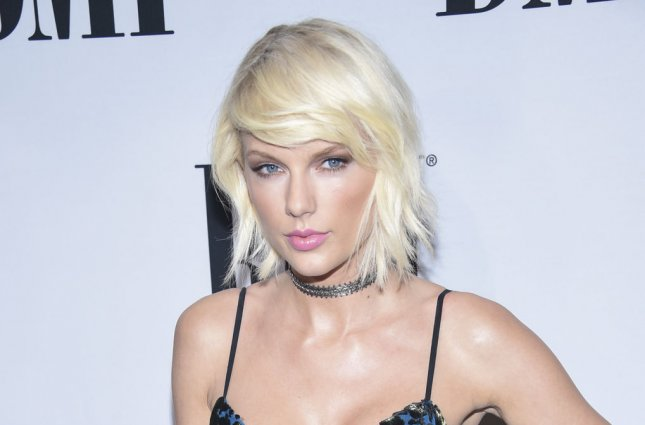 Taylor Swift attending the 64th Annual BMI Pop Awards on May 10. Swift stars alongside Zayn Malik in the music video for their single I Don't Wanna Live Forever which appears on the Fifty Shades Darker soundtrack. File Photo by Phil McCarten/UPI