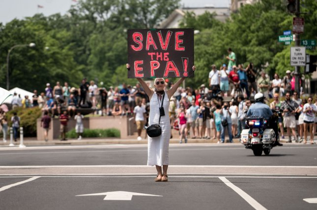 Demonstrators from the Peoples Climate Movement gather in Washington, D.C., on April 29. File Photo by Ken Cedeno/UPI