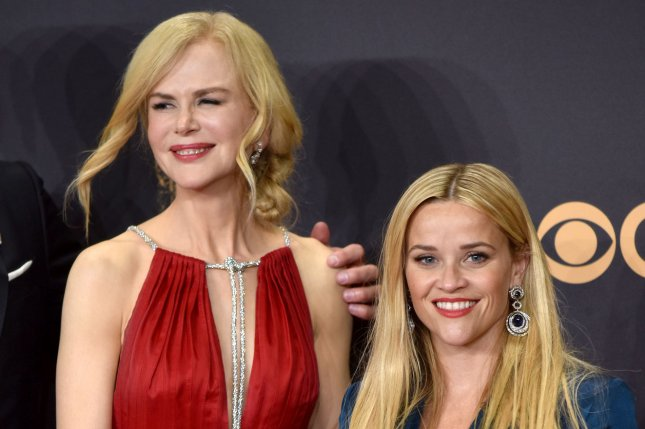 Reese Witherspoon (R), pictured with Nicole Kidman, dedicated a sweet post to the actress on her 51st birthday. File Photo by Christine Chew/UPI