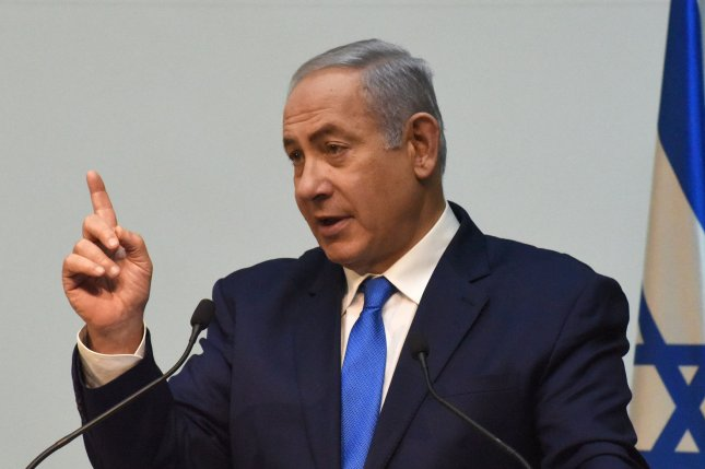 Israeli Prime Minister Benjamin Netanyahu speaks to the press December 19 ahead of a U.N. Security Council discussion about Israel's discovery of Hezbollah tunnels. Photo by Debbie Hill/UPI