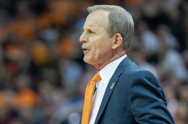 Tennessee Volunteers head coach Rick Barnes was named the Naismith Men's Coach of the Year after guiding the Vols to the Sweet 16 this season. File Photo by Bryan Woolston/UPI