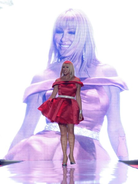 Suzanne Somers walks the runway at The Heart Truth's Red Dress Fall 2011 Collections at Mercedes-Benz Fashion Week at Lincoln Center In New York City on February 9, 2011. UPI/John Angelillo