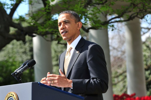 U.S. President Barack Obama delivers remarks urging Congress to vote to end taxpayer subsidies to oil companies in the Rose Garden at the White House in Washington, D.C. on March 29, 2012. UPI/Kevin Dietsch