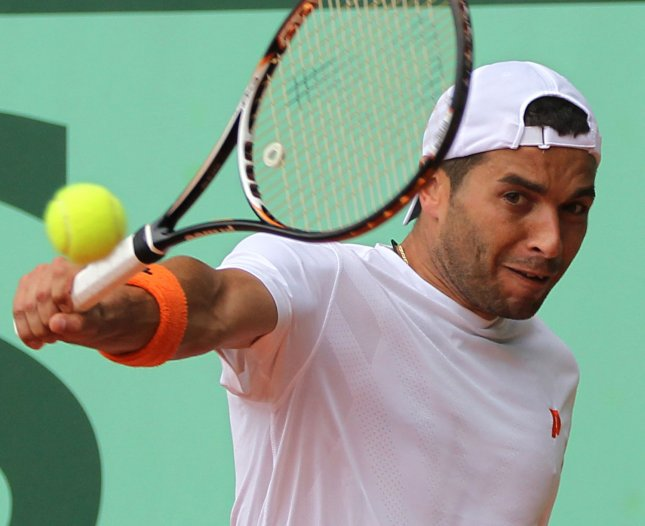 Albert Montanes, shown at last year's French Open, posted a straight-set win Tuesday in the first round of the Estoril Open in Portugal. UPI/David Silpa