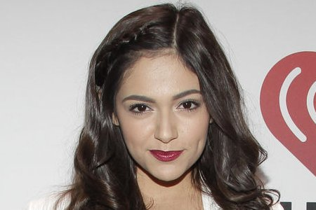 Bethany Mota and partner Derek Hough received a perfect 40/40 score on 'Dancing with the Stars.' (UPI/John Angelillo)